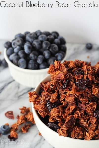 Coconut Blueberry Pecan Granola by Joyful Healthy Eats