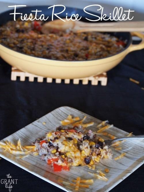 Fiesta Rice Skillet by thegrantlife.com