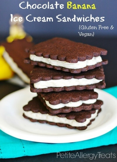 Dairy Free Banana Ice Cream Sandwiches by Petite Allergy Treats