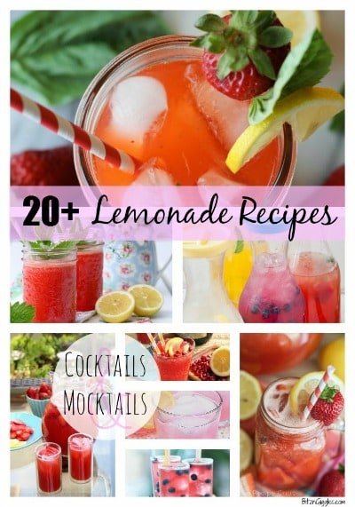 20+ Lemonade Recipes by Bitz and Giggles