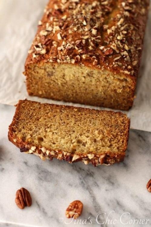 Light Banana Bread by tinaschic.com