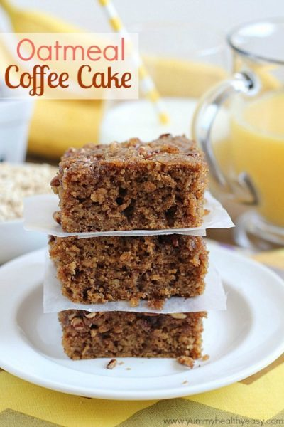 Oatmeal Coffee Cake by YummyHealthyEasy.com