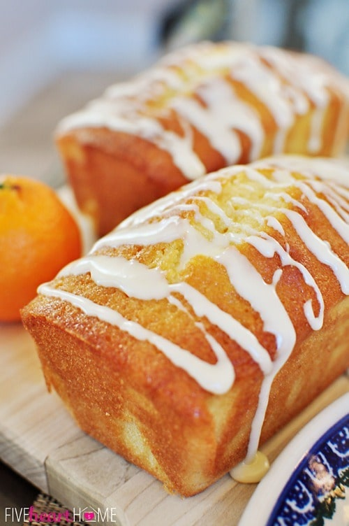 Orange Pound Cake Mini Loaves by FiveHeartHome.com