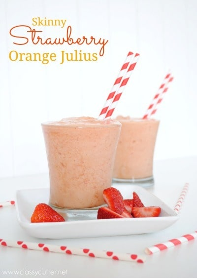 Skinny Strawberry Orange Julius by Classy Clutter