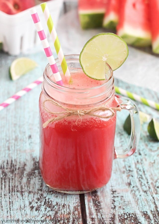 ... drink made from ripe peaches and watermelon then mixed with lemon-lime