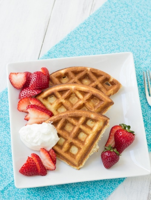 Whole Wheat Ricotta Waffles by KristinesKitchenBlog.com