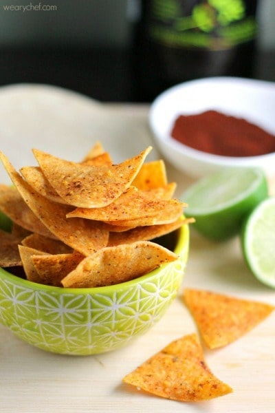 Chili Lime Chips by The Weary Chef