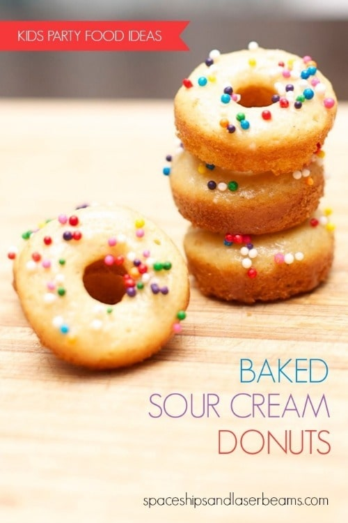 Baked Sour Cream Donuts by spaceshipsandlaserbeams.com