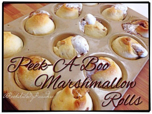 Pee-a-boo Marshmallow Rolls by apeekintomyparadise.com
