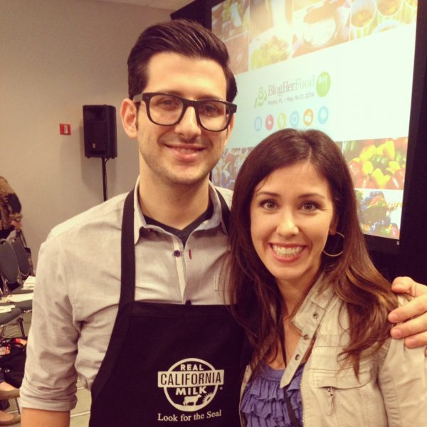Me & Chef Giorgio Rapicavoli at BlogHer Food '14 after the California Dairy demo!