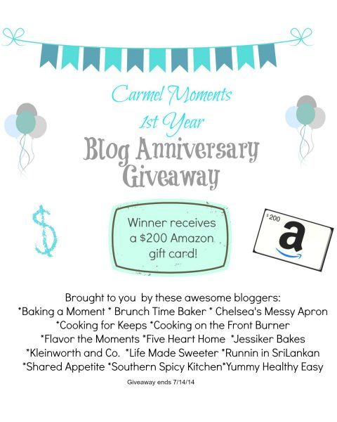Carmel Moments Blog Anniversary Giveaway - $200 Amazon Gift Card!
