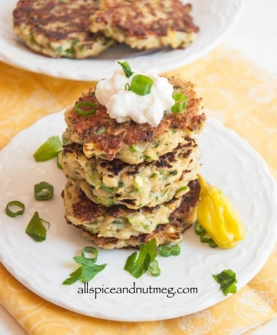 Cauliflower Fritters from Allspice and Nutmeg