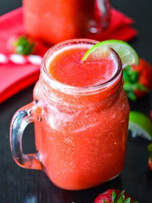 Frozen Strawberry Limeade - Layers of Happiness
