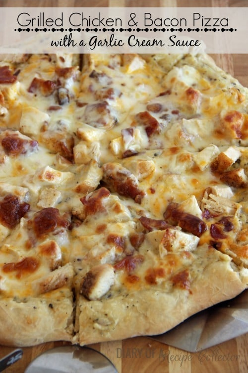 Grilled Chicken & Bacon Pizza - Diary of a Recipe Collector