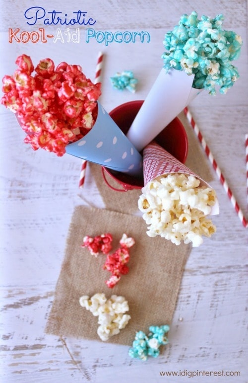 Patriotic Kool-Aid Popcorn - I Dig Pinterest