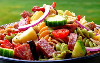Antipasto Pasta Salad with Tangy Red Wine Vinaigrette - Noble Pig