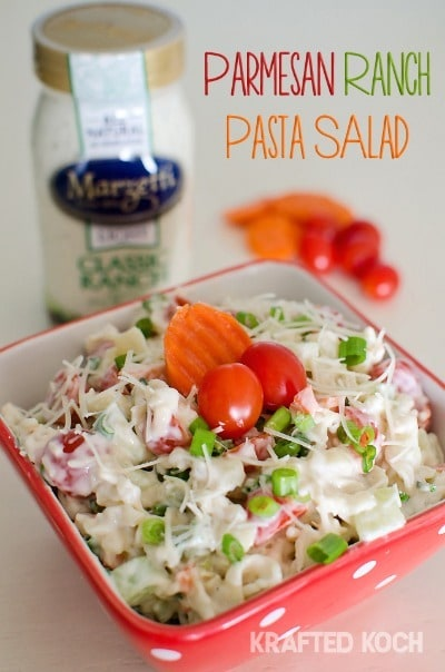 Parmesan Ranch Pasta Salad - Krafted Koch