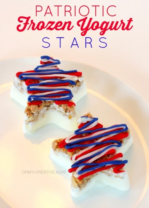 Patriotic Frozen Yogurt Stars - OH MY! Creative