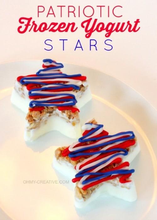 Patriotic Frozen Yogurt Stars - OH MY! Creative