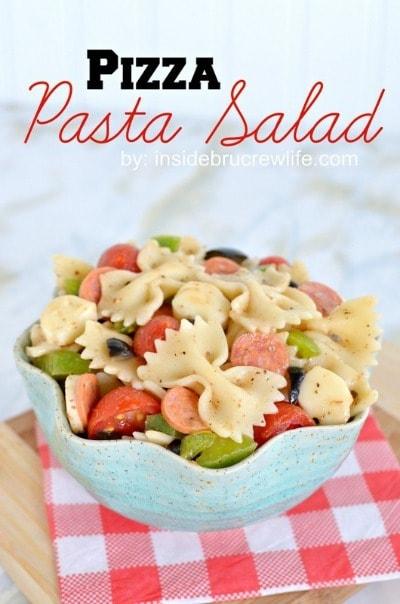 Pizza Pasta Salad - Inside BruCrew Life