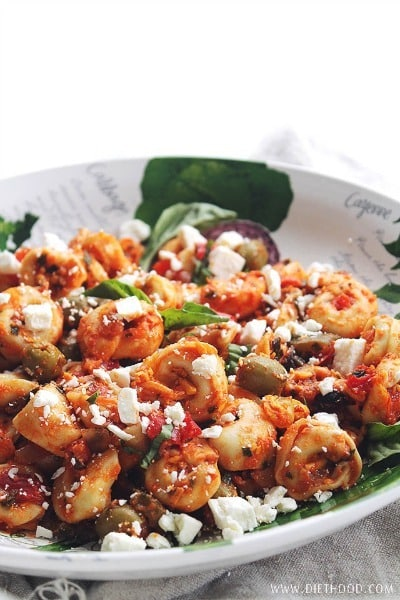 Mediterranean Tortellini Salad - Diethood
