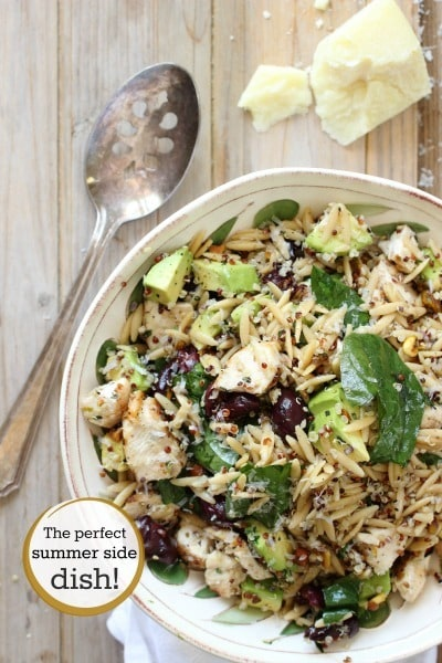 Grilled Chicken with Quinoa and Orzo Pasta - Foodness Gracious