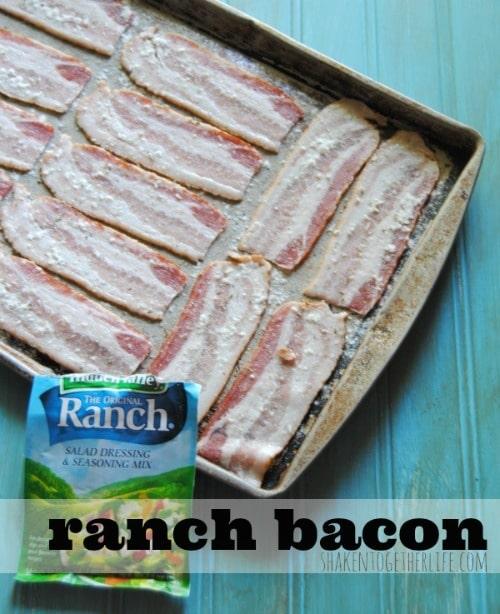 Crispy Baked Ranch Bacon - Shaken Together Life