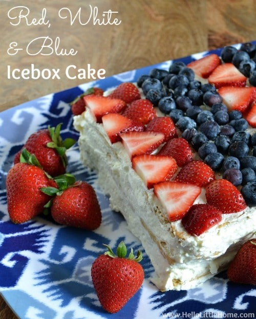 Red, White & Blue Icebox Cake - Hello Little Home