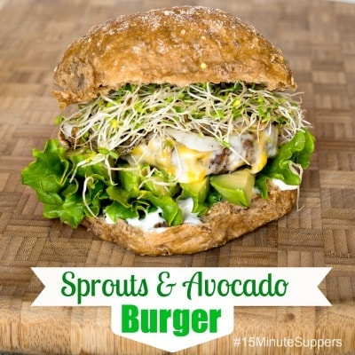 Sprouts & Avocado Burger from Upstate Ramblings