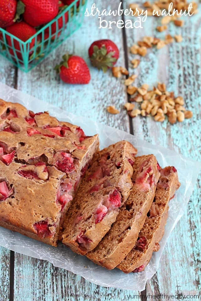 Strawberry Walnut Bread - a delicious quick bread filled with fresh ...