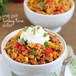 Turkey Taco Skillet {one pot dish}