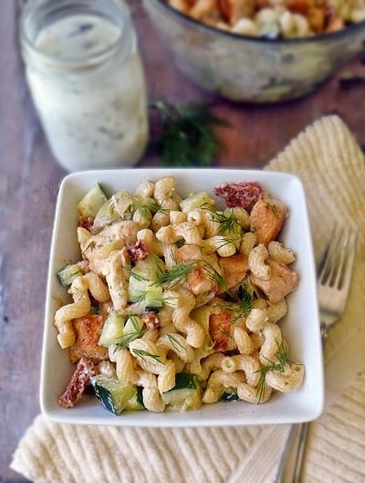 Tzatziki Pasta Salad - Life Tastes Good