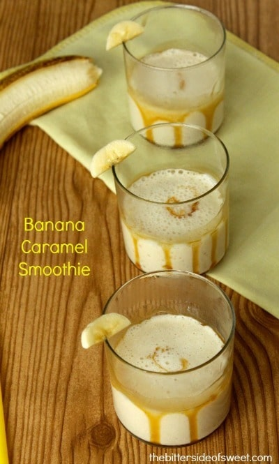 Banana Caramel Smoothie - The Bitter Side of Sweet