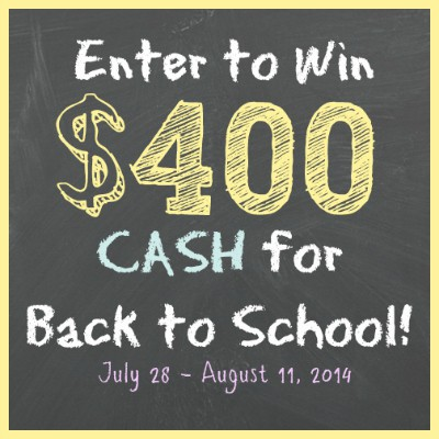 Back to School $400 CASH Giveaway!!