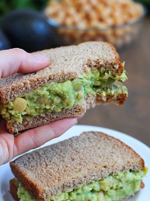 Avocado Chickpea Salad Sandwich {Simple Summer Series}
