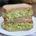 Avocado Chickpea Salad Sandwiches - a light and healthy sandwich made with smashed chickpeas, avocados and herbs. Yum!