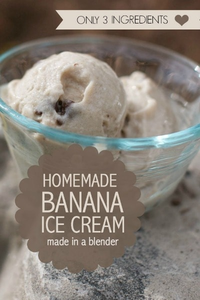 Ingredient Chocolate Chip Banana Ice Cream (made in a blender ...