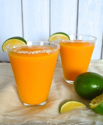 Frozen White Peach Mango Margarita - The Woks of Life