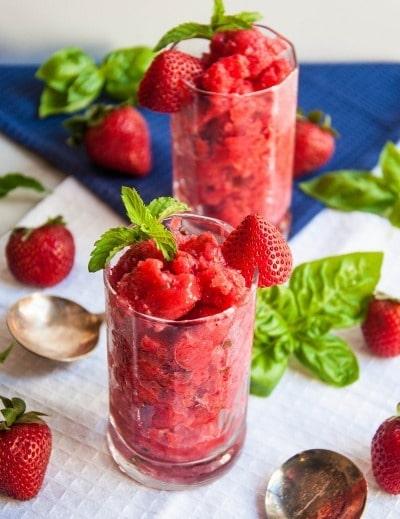Strawberry Granita - Allspice and Nutmeg