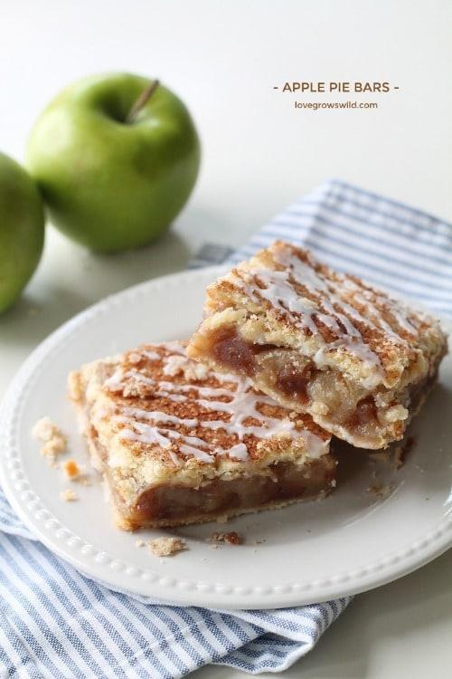 Apple Pie Bars by Love Grows Wild