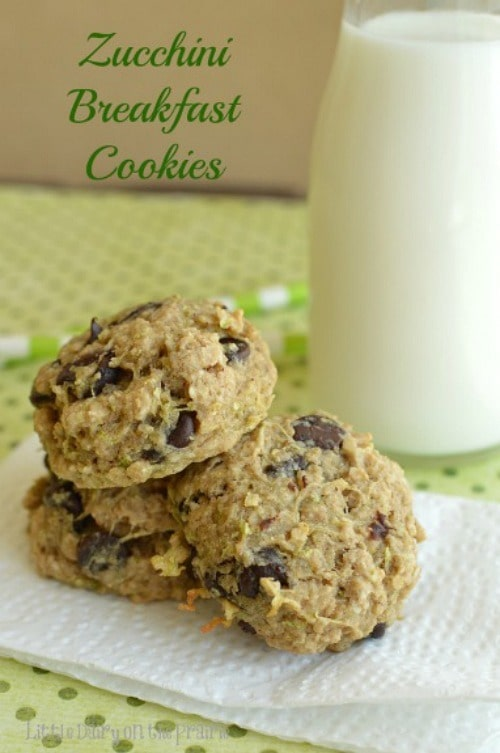 Zucchini Breakfast Cookies by Little Dairy on the Prairie