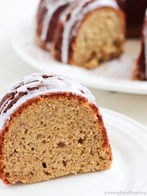 Banana Bread in cake form! Soft, moist and absolutely delicious! PLUS you can win a KitchenAid Mixer!