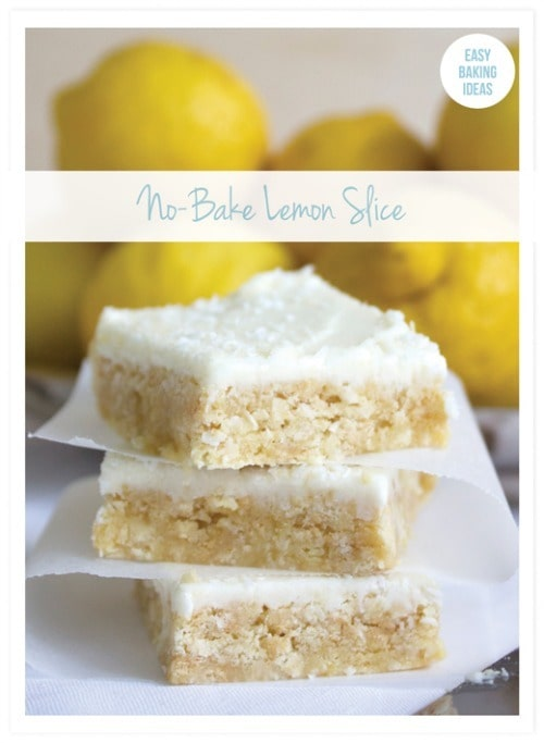 No-Bake Lemon Slice from Eliza Ellis