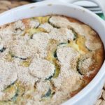 Zucchini Casserole - a healthy and deliciously side dish that's full chock full of zucchini!