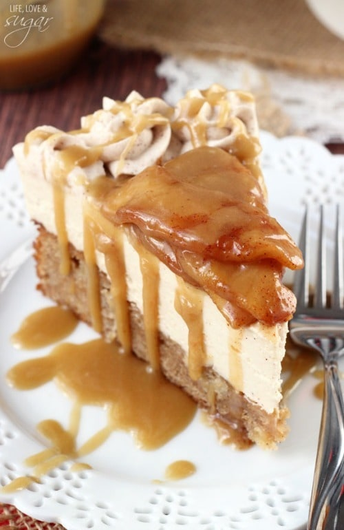 Caramel Apple Blondie Cheesecake from Life Love & Sugar