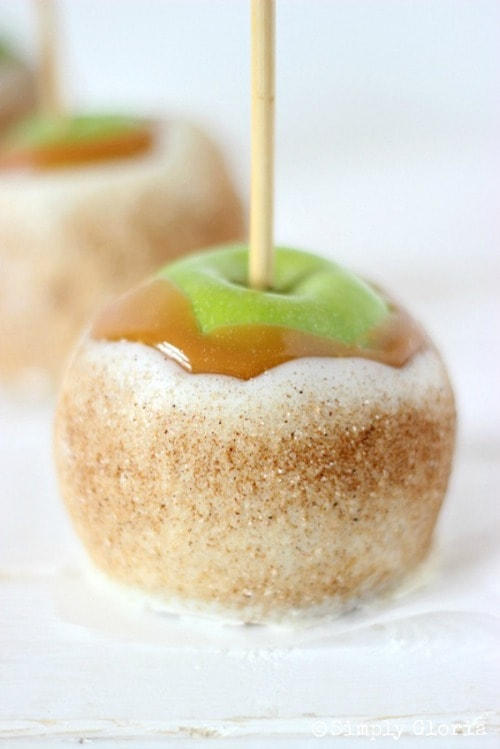 Chai Sugared Caramel Apples from Simply Gloria