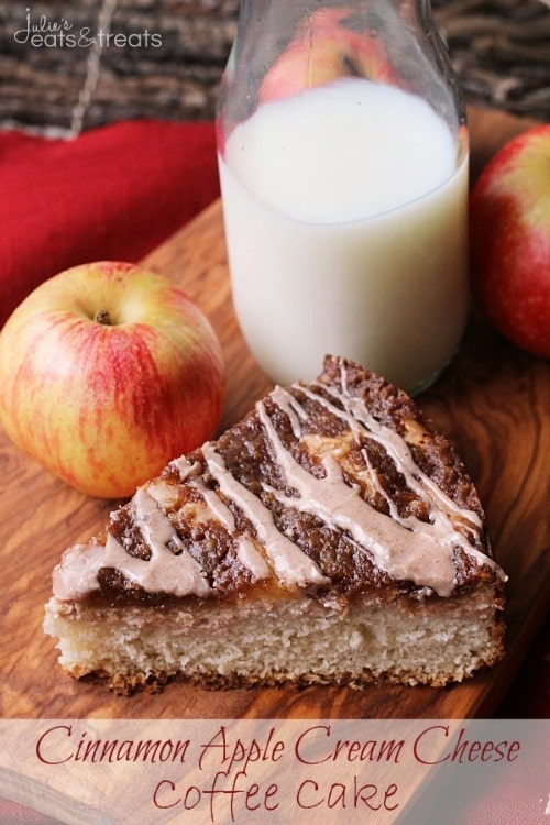 Cinnamon Apple Cream Cheese Coffee Cake from Julie's Eats and Treats