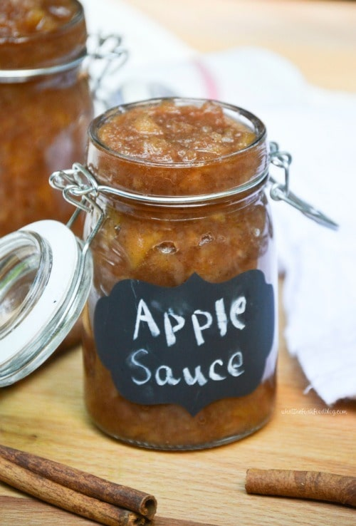 Slow Cooker Cinnamon Applesauce by What The Fork Food Blog