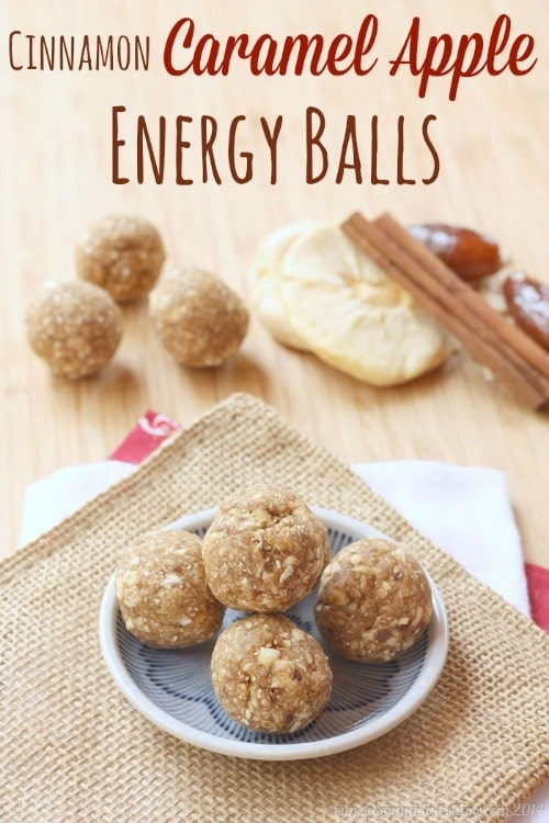Cinnamon Caramel Apple Energy Balls from Cupcakes & Kale Chips