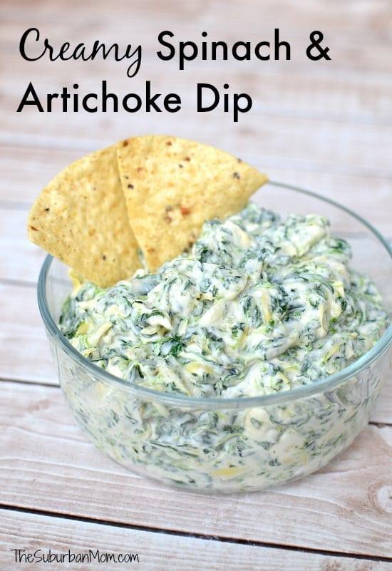 Creamy Spinach Artichoke Dip from The Suburban Mom